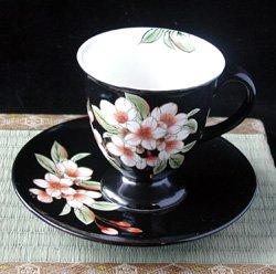 画像1: 珈琲碗       『桜 黒』